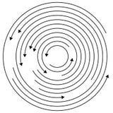 Kółkowe strzała - Przypadkowi koncentryczni okręgi z strzała dla twis royalty ilustracja