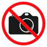Kółkowemu ` Bierze fotografie no pozwolą ` znaka Rewolucjonistka znak, czarna kamera ilustracji