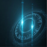 Kółkowi technologiczni kształty EPS10 Obraz Stock