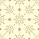 Kółkowy bezszwowy pochodzenie etniczne mandala Stylizowany koronkowy Indiański ornament Obrazy Stock