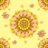 Kółkowy bezszwowy wzór z jesień liśćmi Fotografia Royalty Free