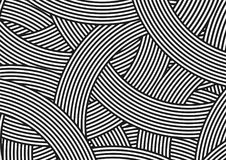 Kółkowy czarny i biały paraleli linii wzór ilustracja wektor