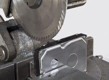 kółkowy deviding prowadnikowy brzęczeń hard saw fotografia stock
