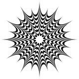 Kółkowy geometryczny motyw, abstrakcjonistyczny mandala, geometryczny kształt zdjęcia royalty free