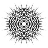 Kółkowy geometryczny motyw, abstrakcjonistyczny mandala, geometryczny kształt obraz stock