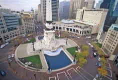Kółkowy Grodzki centrum, Indianapolis, Indiana zdjęcia royalty free