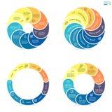 Kółkowy infographics z zaokrąglonymi barwionymi sekcjami Zdjęcia Royalty Free