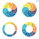 Kółkowy infographics z zaokrąglonymi barwionymi sekcjami Fotografia Royalty Free