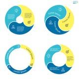 Kółkowy infographics z zaokrąglonymi barwionymi sekcjami Obraz Stock