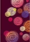 Kółkowy kolorowy abstrakcjonistyczny tło Fotografia Royalty Free