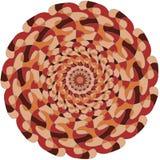 Kółkowy kolorowy wzór z skrzyżowaniami Obraz Royalty Free