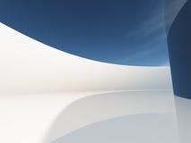 Kółkowy korytarz z niebem ilustracja wektor