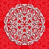 Kółkowy ornament, laserowy rozcięcie tło dekoracyjny ilustracja wektor