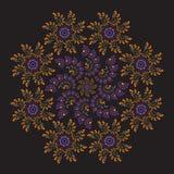 Kółkowy ornamentacyjny fractal ilustracji