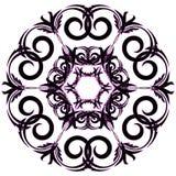 Kółkowy ornamentu czerń z menchiami barwi na białym tle royalty ilustracja