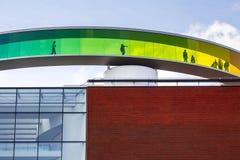 Kółkowy panoramiczny dach muzeum sztuki, Aarhus obrazy royalty free