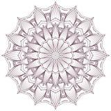 Kółkowy w zawiły sposób mandala projekt dla barwić Zdjęcie Stock