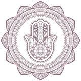 Kółkowy w zawiły sposób mandala projekt dla barwić Zdjęcie Royalty Free