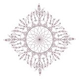 Kółkowy w zawiły sposób mandala projekt dla barwić Obrazy Royalty Free