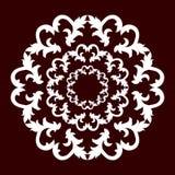 Kółkowy wzór biały kolor na zmroku - czerwony tło royalty ilustracja