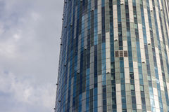 Kółkowa budynek biurowy fasada Obrazy Stock