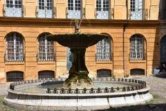 Kółkowa fontanna w Aix en Provence Zdjęcie Stock