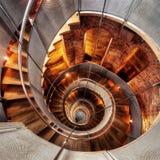 Kółkowego schody latarnia morska Zdjęcia Stock
