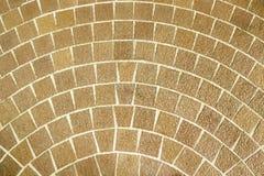 Kółkowy brown ceglany brukowanie wzór Obraz Royalty Free