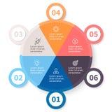 Kółkowy infographics z numerowymi opcjami Zdjęcia Stock