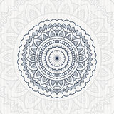 Kółkowy kwiatu rocznika mandala Zdjęcie Stock