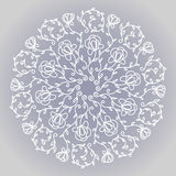 Kółkowy kwiecisty ornament Obraz Royalty Free