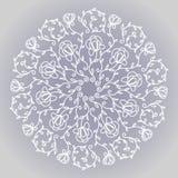 Kółkowy kwiecisty ornament Zdjęcie Royalty Free