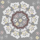 Kółkowy Kwiecisty ornament, abstraktów kwiaty Obrazy Stock