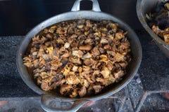 Kózki lub wołowiny jelita kulinarni fotografia stock