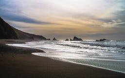 Kózki skały plaża Obraz Royalty Free