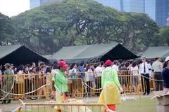 Kö på Padangen Singapore Fotografering för Bildbyråer