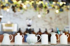 Kök som är keramiskt med coffee shop Royaltyfri Bild