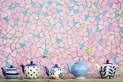 Kök som är keramiskt med den färgrika mosaiken Royaltyfri Fotografi