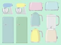 Kökanordningar, kitchenware royaltyfri illustrationer
