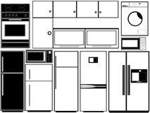 Kökelektronik Royaltyfri Illustrationer