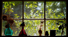 kökfönster Fotografering för Bildbyråer