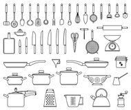 Kökhjälpmedel och redskap Fotografering för Bildbyråer