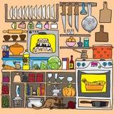 Kökklottervektor Fotografering för Bildbyråer