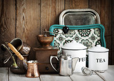 köklivstid fortfarande Tappningredskap royaltyfri fotografi