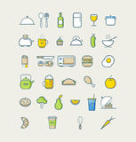 Köksymboler för kafémenyrestaurang vektor för illustration för designmatsymboler dig Royaltyfria Bilder