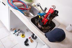 Kökvattenklapp och vask Royaltyfria Foton
