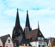 Köln auf dem Rhein, alte Stadt, Deutschland Stockfotos