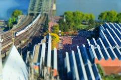 Köln in der Miniatur Stockbild