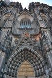 Köln, Deutschland - 15. August 2015: Haupteingang von Köln-Kathedrale Stockfotos