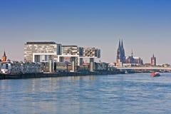 Köln, Flussufer Lizenzfreies Stockfoto